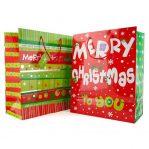 Tas Kertas Perayaan Natal dan Tahun Baru