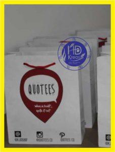 Bikin Tas Kertas Untuk Acara Bedah Buku